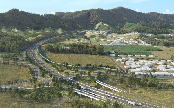 EIS Artist Impression - Coramba Road interchange